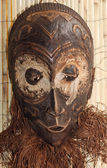 Wood mask used by sorcerers and shamans during ceremonies in Afr — Stock Photo