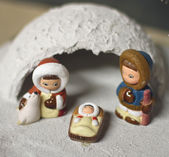 Crib in Eskimo of North Pole version 2 — Stock Photo