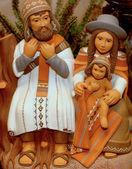 南米のバージョン 7 の神聖な家族とキリスト降誕のシーン — ストック写真