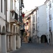 Corso fogazzaro one of the main streets of vicenza — Stock Photo