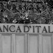 BANK of ITALY written on door closed — Stock Photo #37369607