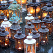 Stock Photo: Ceremonial with lanterns during ceremony and lit candles ins