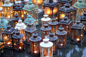 Ceremonial with lanterns during the ceremony and lit candles ins — Stock Photo