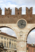 Gate of the ancient city of Verona in the veneto in Italy — Stock Photo