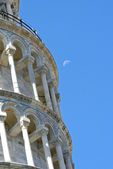 Famous leaning tower of Pisa in Piazza dei Miracoli 2 — Stock Photo