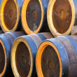 Barrels to contain spirits like brandy or wine cellar — Stock Photo #41625503
