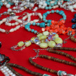 Vintage trinkets for sale at a flea market in Rome — Stock Photo