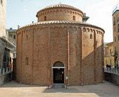 Ancient circular shaped Romanesque church named Rotonda di San L — Stock Photo