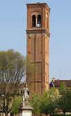 Ancient Bell Tower in the city of Mantua in Lombardy — Stock Photo