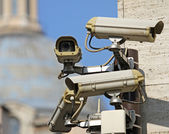 Surveillance camera to see all main points of the great metropol — Stock Photo