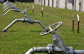 Shut-off valves to close the Central gas plant — Stock Photo