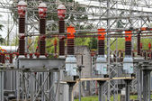 Isolator switches of the power station — Stock Photo