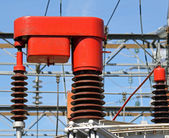 Electrical system of change report of a current transformer 4 — Stock Photo