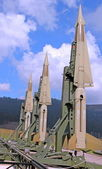 Military intercontinental missiles ready for launch — Stock Photo