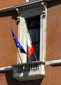 Balcony of piazza venezia in Rome — Stock Photo