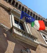 Balcony of piazza venezia in Rome — Photo