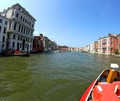 Prestigious palaces of the Republic of Venice on the Grand canal — Stock Photo