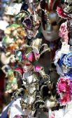 Masques vénitiens originaux faits à la main — Photo