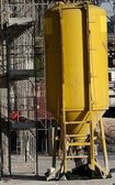 Silo to hold mortar and cement in the construction site — Stock Photo