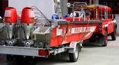 Powerful boat NASSA Italian firefighters ready for emergency — Stock Photo