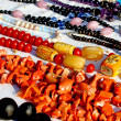 Colorful necklaces for sale in the local market stall in town  3 — Stock Photo #47932545