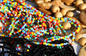 Colorful necklaces for sale in the local market stall in town 1 — Foto Stock