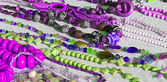 Colorful necklaces for sale in the local market stall in town 4 — Foto Stock
