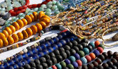 Colorful necklaces for sale in the local market stall in town 2 — Foto Stock