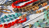 Colorful necklaces for sale in the local market stall in town 5 — Foto Stock