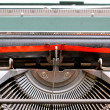 Black and Red Ribbon of an old Italian mechanical typewriter 2 — Stock Photo #48095523