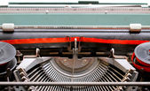 Black and Red Ribbon of an old Italian mechanical typewriter 2 — Stock Photo