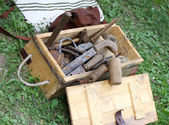 Antique working tools for carpenters and Joiners — Stock Photo