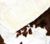Two carpets made from the wool of sheep and cow fur — Stock Photo