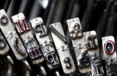 Details of the ampersand letter and in a part of the typewriter — Stockfoto