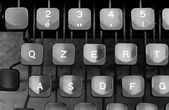 Some keyboard keys of an old typewriter — 图库照片
