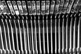 Letters of an old typewriter — Stockfoto