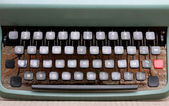 Keyboard of an metal typewriter — Stock Photo
