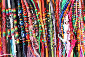 Ethnic bracelets and beads lanyard for sale — Stock Photo
