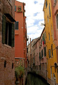 Navigable  channel of water in the city of Venice — Stock Photo