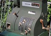 Old cash register for sale at flea market 2 — Stock Photo