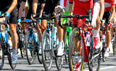 Cyclists during a cycle road race in Europe — Stock Photo