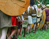 Incredible Roman fighting against Gauls — Stock Photo