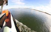 Trajekt lodí pro přepravu cestujících a turisty — Stock fotografie