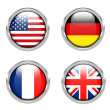 Flags of America, Germany, France and United Kingdom — Stock Photo #31456521