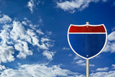 Interstate road sign - Texas — Foto Stock