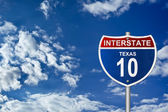 Interstate road sign - Texas — Stock Photo