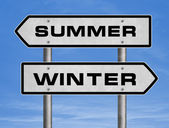 Summer going - winter coming — Stock Photo