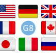 Flags of the Group of Eight — Stock Photo #45221731
