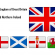 United Kingdom of Great Britain and Northern Ireland - flags and — Stock Photo #45222447