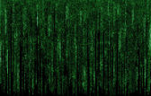 Green digital  code numbers in matrix style — Stock Photo